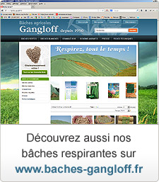 Bâches respirantes sur www.baches-gangloff.fr