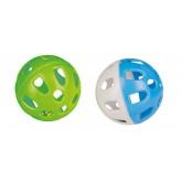 BALLE PLASTIQUE AVEC GRELOT 5CM X2