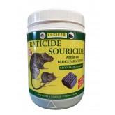 RATICIDE SOURICIDE BLOCS BRODIFACOUM 0,0012% 280g