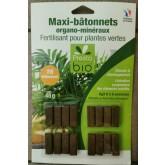 BATONNETS FERTILISANT Plantes Vertes 16PC